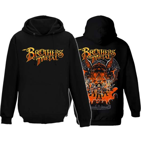BROTHERS OF METAL - Brothers Unite - Hooded Sweater (Sizes M-XXL)