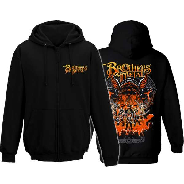 BROTHERS OF METAL - Brothers Unite - Zipped Hooded Sweater (Sizes M-XXL)