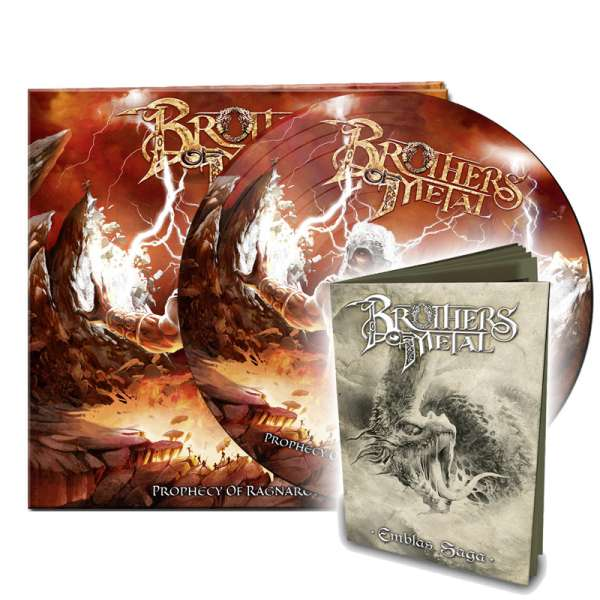 "BROTHERS OF METAL - ""Prophecy Of Ragnarök""-Picture-Disc + ""Emblas Saga""-Booklet - Ltd.Bundle"