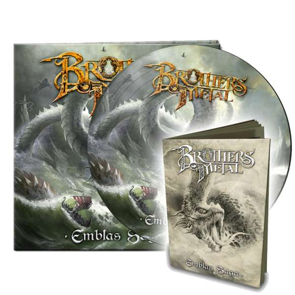 """BROTHERS OF METAL - """"Emblas Saga""""-Picture-Disc + """"Emblas Saga""""-Booklet - Ltd.Bundle"""