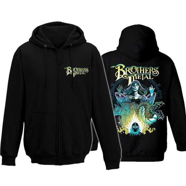 BROTHERS OF METAL - Hel - Zipped Hooded Sweater (Sizes M-XXL)