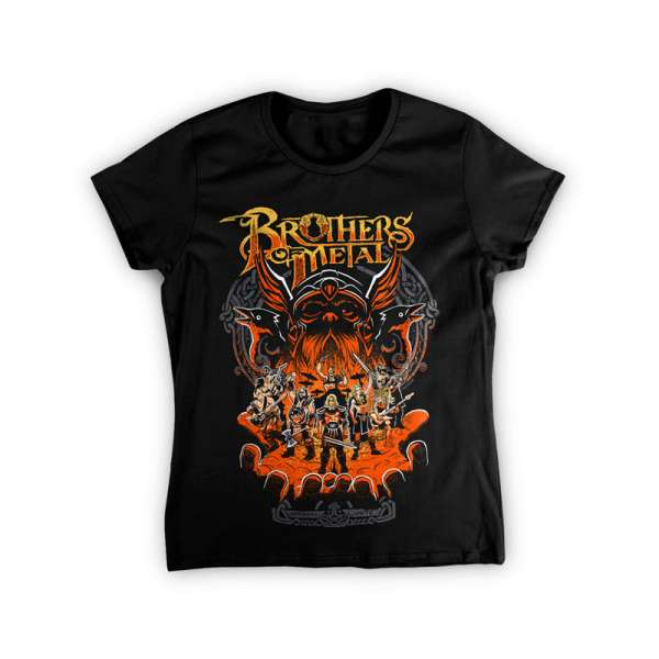 BROTHERS OF METAL - Brothers Unite - Girlie-Shirt (Sizes S-XL)